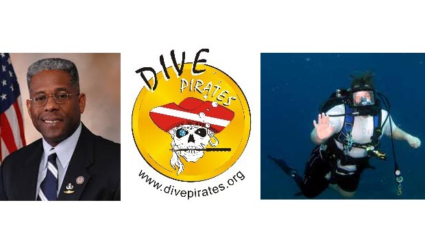 Lt. Col ALLEN B. WEST joins Dive Pirates in Cayman to Dive with Injured Veterans