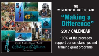 It's here and ready to ship! Women Divers Hall of Fame 2017 Calendar!