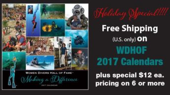 FREE SHIPPING for Women Divers Hall of Fame 2017 Calendar