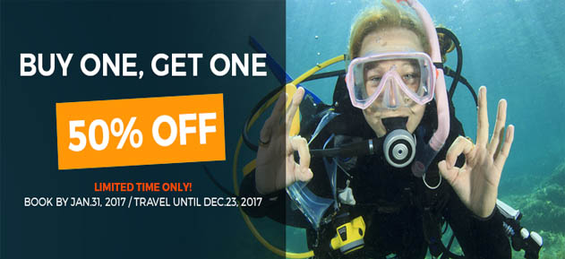 Turquoise Bay starts the year with a Buy 1, Get 1 HALF OFF special