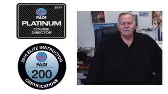 SCUBA EMPORIUM's founder, Patrick Hammer, named PADI Platinum Course Director for 16th Consecutive Time