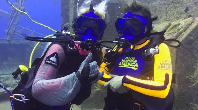 ABC's Good Morning America Broadcasts Live Shark Feed with Stuart Cove's Dive Bahamas