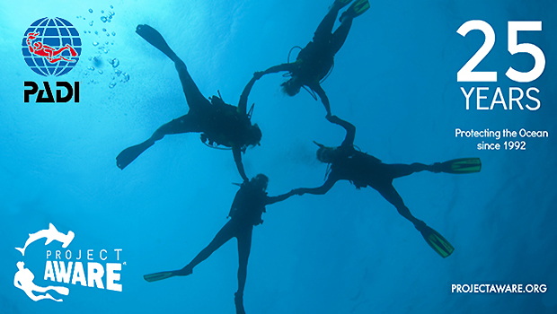 PADI® and Project AWARE® Celebrate 25 Years of Ocean Action