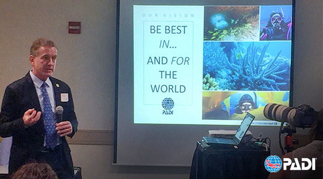 PADI President and CEO Drew Richardson Engages Ocean Community at Blue Vision Summit