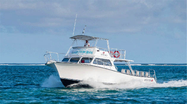 """Ocean Frontiers Launches Top of the Line """"Limo-style"""" Dive Boat"""