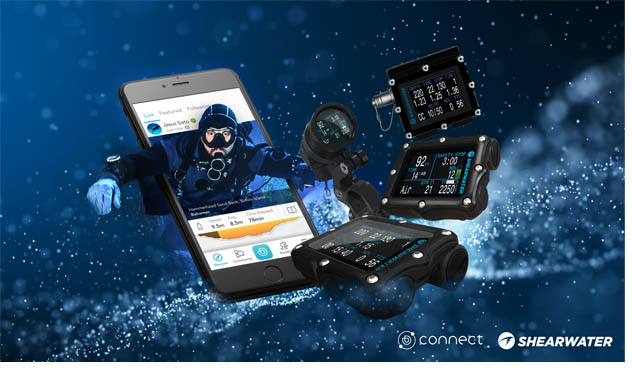 Shearwater Landing on Deepblu Connect-Leading Innovative Tech Diving Company becomes the Third to Integrate