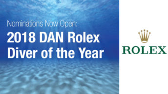 Time to Make a Difference in a Diver's Life – Nominations Open for the 2018 DAN Rolex Diver of the Year Award