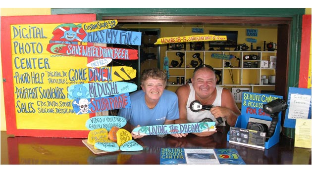 John and Susie Retire from Digital Photo Center at Buddy Dive Resort
